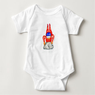 Sleigh Sport Watercolor2 Baby Bodysuit