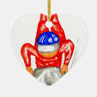 Sleigh Sport Watercolor2 Ceramic Ornament