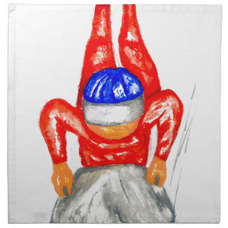 Sleigh Sport Watercolor2 Napkin