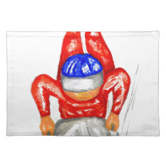 Sleigh Sport Watercolor2 Placemat