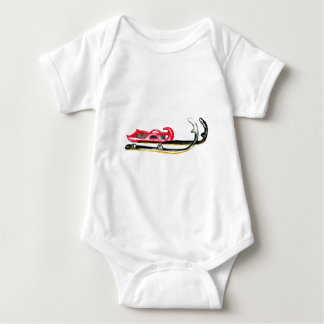 Sleigh Sport Watercolor Baby Bodysuit