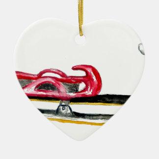 Sleigh Sport Watercolor Ceramic Ornament