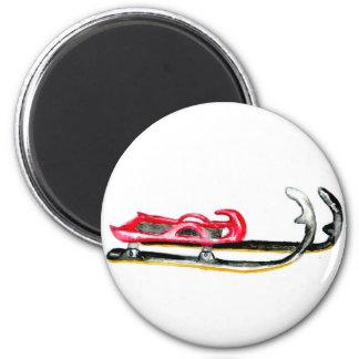 Sleigh Sport Watercolor Magnet