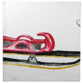 Sleigh Sport Watercolor Napkin