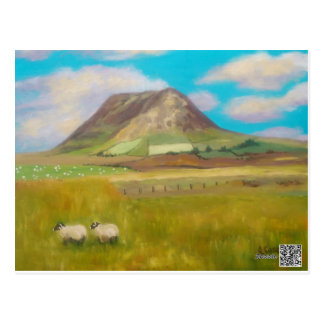 Slemish Mountain Painting Postcard by Joanne Casey