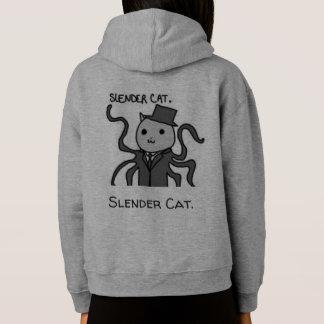 Slender Cat. Girls' Fleece Hoodie