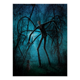 Slender Man and the Lost Soul Poster