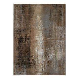 'Slender' Neutral Abstract Art Poster Print