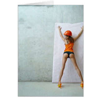 Slender woman paste wallpaper card