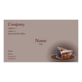 Slice of Apple Pie Double-Sided Standard Business Cards (Pack Of 100)