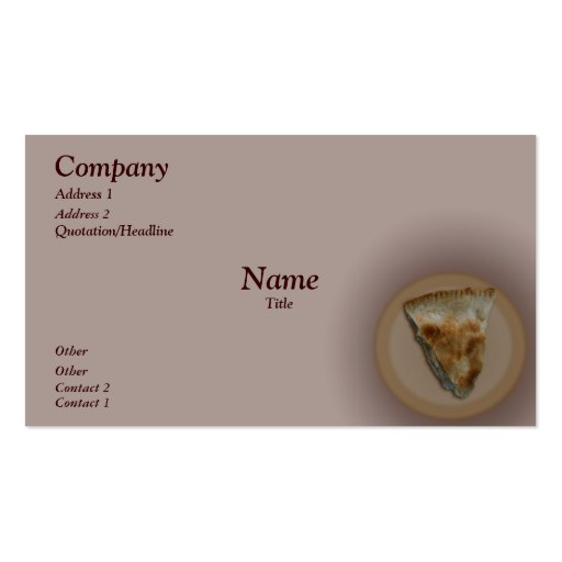 Slice of Apple Pie Business Card
