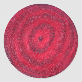 Slice of beetroot classic round sticker