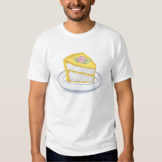 Slice of Cake with Yellow and Pink Frosting T Shirts