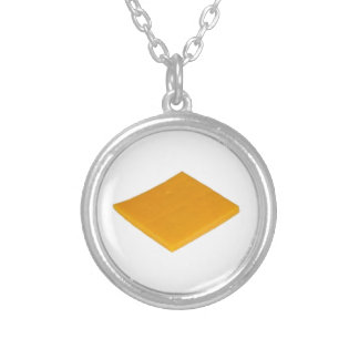 Slice of Cheese Round Pendant Necklace