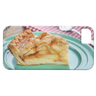 Slice of fresh baked apple pie on plate iPhone 5 cover