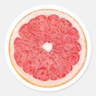 Slice of grapefruit classic round sticker