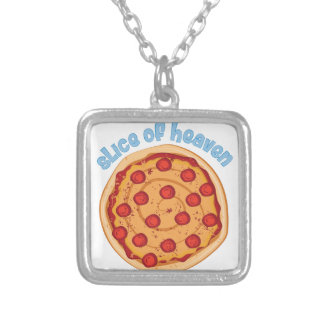 Slice Of Heaven Silver Plated Necklace