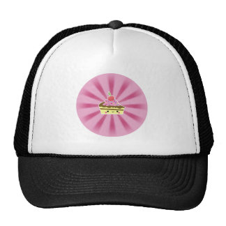 Slice of Kawaii Cake with a Cherry on Top Mesh Hat