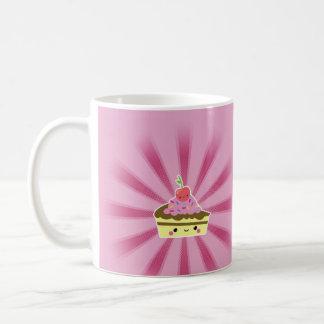 Slice of Kawaii Cake with a Cherry on Top Coffee Mugs