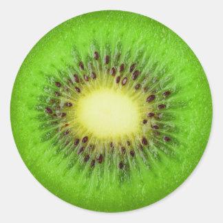 Slice of kiwi classic round sticker
