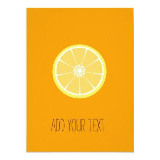slice of lemon 17 cm x 22 cm invitation card