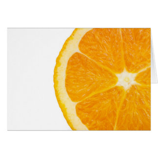 Slice Of Orange Card