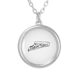 Slice of Pizza Round Pendant Necklace