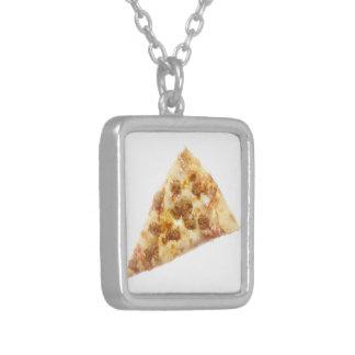 Slice of Pizza Square Pendant Necklace