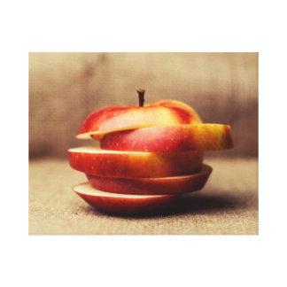Sliced Apple Canvas Print