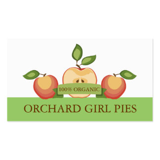 Sliced apples pies canning fruit lovers pack of standard business cards