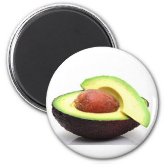 Sliced Avocado 6 Cm Round Magnet