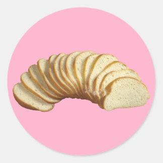 Sliced Bread Round Sticker