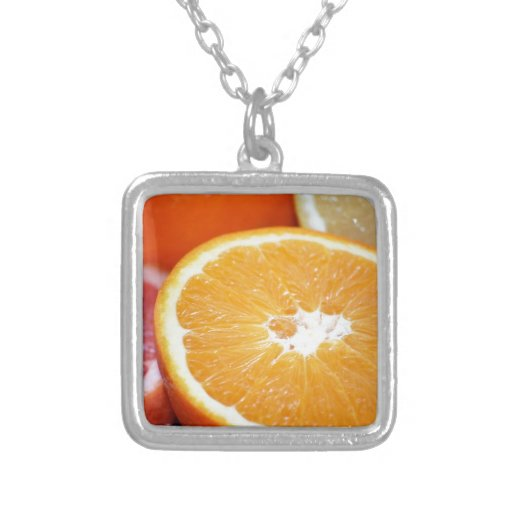 SLICED CITRUS FRUITS ORANGES COLORFUL HEALTHY FOOD NECKLACE