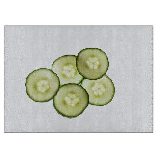 Sliced Cucumbers Cutting Board