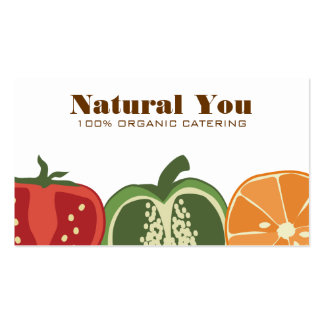 sliced fruit vegetable chef catering business ccar pack of standard business cards