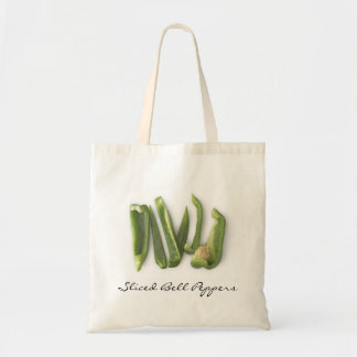 Sliced Green Bell Peppers Canvas Bags
