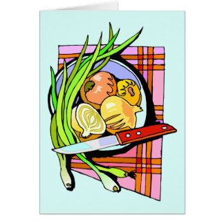 Sliced Onions and Potatoes Card