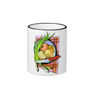 Sliced Onions and Potatoes Mugs