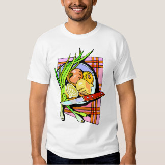 Sliced Onions and Potatoes T-shirts