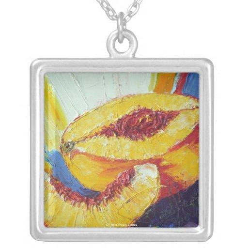 Sliced Peach Necklace