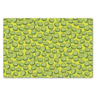 Sliced Pickles Pattern Tissue Paper