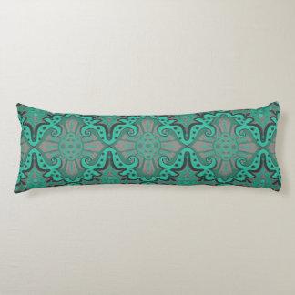 """Sliced pomegranat"" organic forms bohemian pattern Body Cushion"