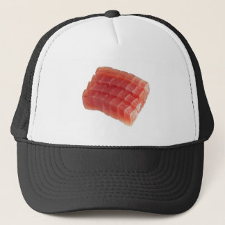 Sliced raw bluefin tuna trucker hat