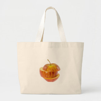 Sliced red apple canvas bags