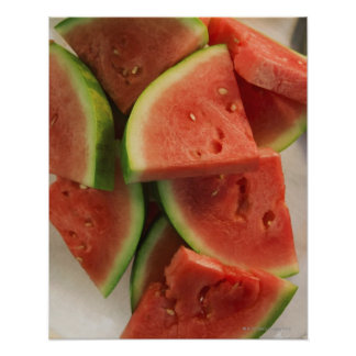 Slices of watermelon poster