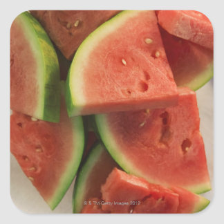 Slices of watermelon square sticker