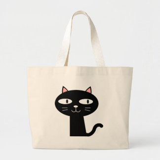 Slick Black Cat Large Tote Bag