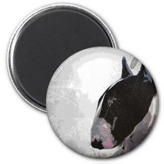 Slick urban English Bull Terrier  Fridge magnet