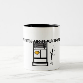 Slide1, RAISE AWARENESS ABOUT MULTIPLE SCLEROSIS Two-Tone Coffee Mug