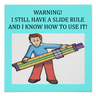 slide rule math humor poster